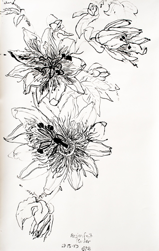 Passion Flower Tattoo Designs